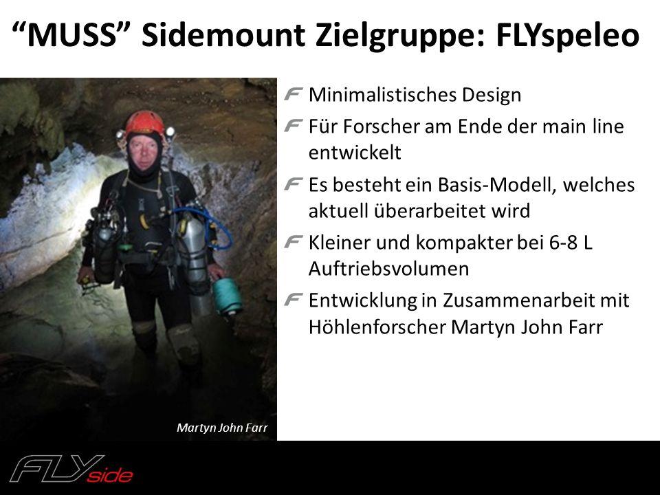 """""""MUSS"""" Sidemount Zielgruppe: FLYspeleo Minimalistisches Design Für Forscher am Ende der main line entwickelt Es besteht ein Basis-Modell, welches aktu"""