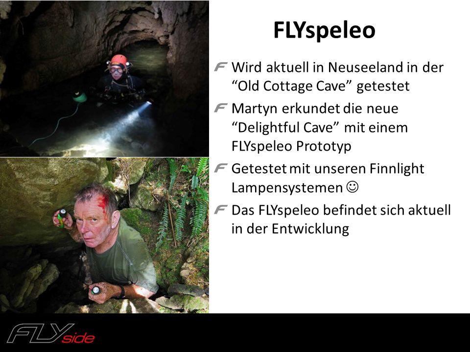 """FLYspeleo Wird aktuell in Neuseeland in der """"Old Cottage Cave"""" getestet Martyn erkundet die neue """"Delightful Cave"""" mit einem FLYspeleo Prototyp Getest"""