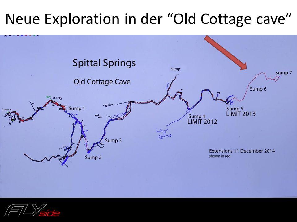 "Neue Exploration in der ""Old Cottage cave"""