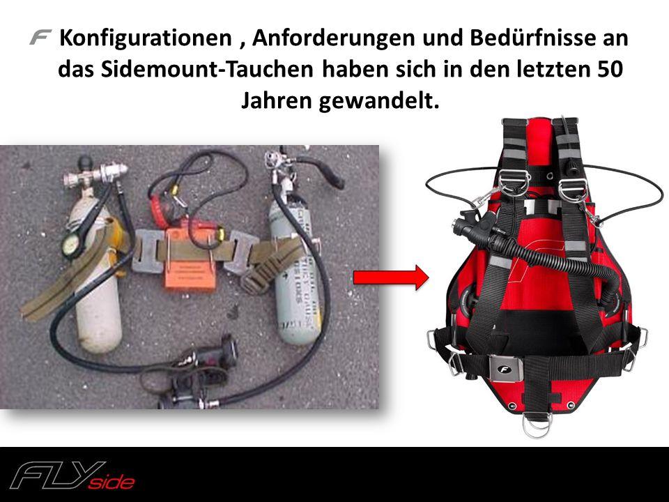 FLY side : tank rigging kit Sidemount Flaschen Rigging Kits für verschiedene Flaschentypen: 7l Alu, S80, 10l/12l SS (171mm Durchmesser) Flaschengut + Edelstahlschnalle + Karabiner 2x Gummibänder