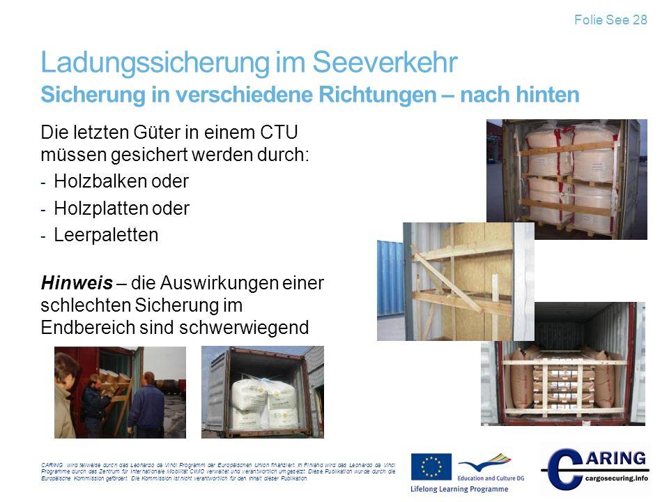 CARING wird teilweise durch das Leonardo da Vinci Programm der Europäischen Union finanziert.