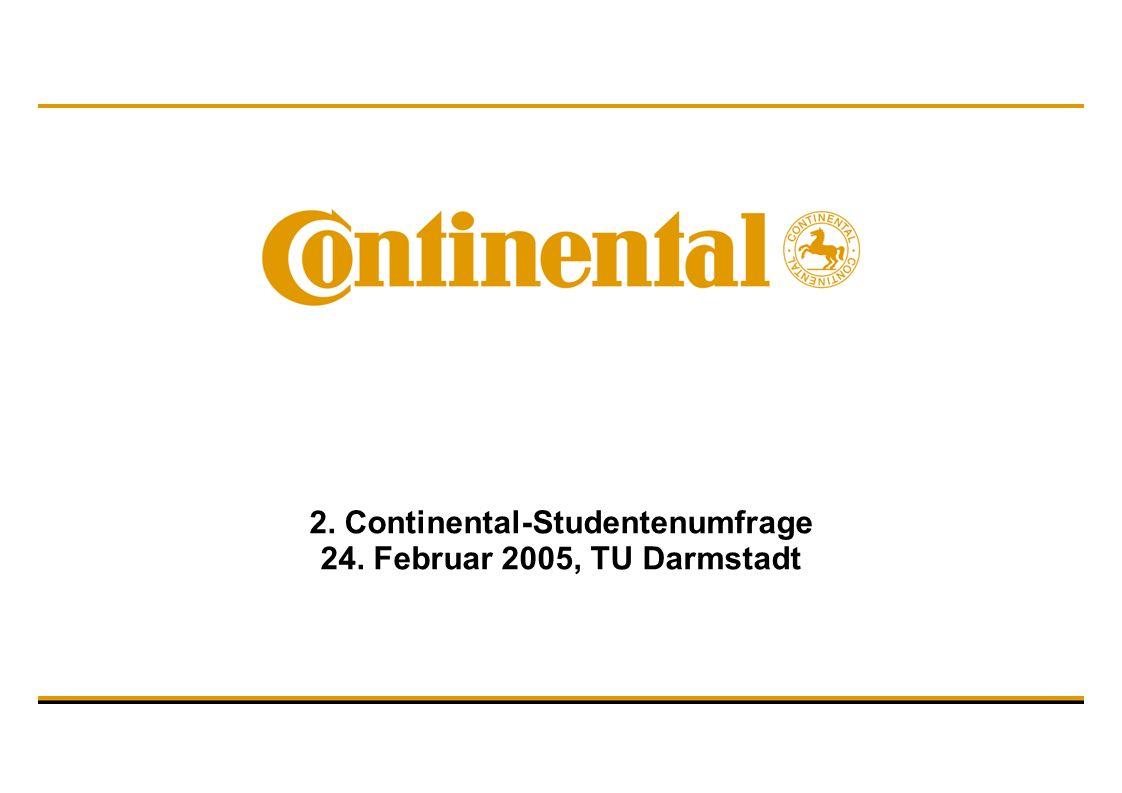 2. Continental-Studentenumfrage 24. Februar 2005, TU Darmstadt