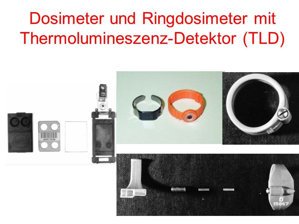 Dosimeter und Ringdosimeter mit Thermolumineszenz-Detektor (TLD)