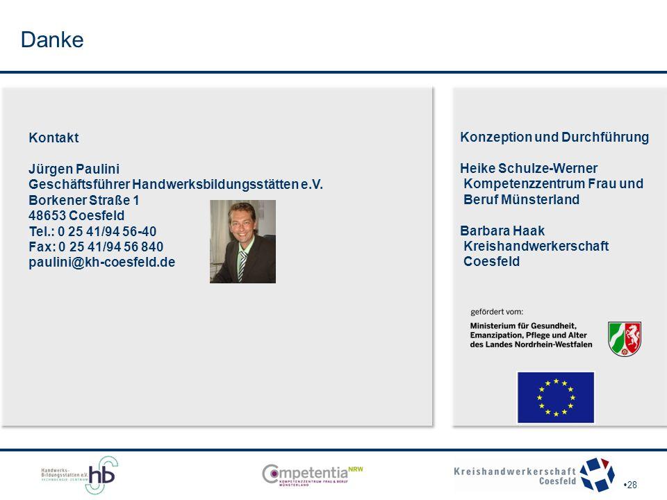 Danke Kontakt Jürgen Paulini Geschäftsführer Handwerksbildungsstätten e.V.