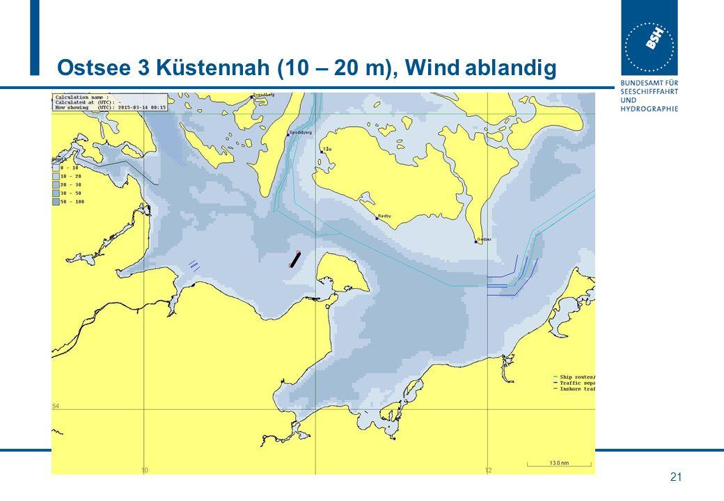Ostsee 3 Küstennah (10 – 20 m), Wind ablandig 21