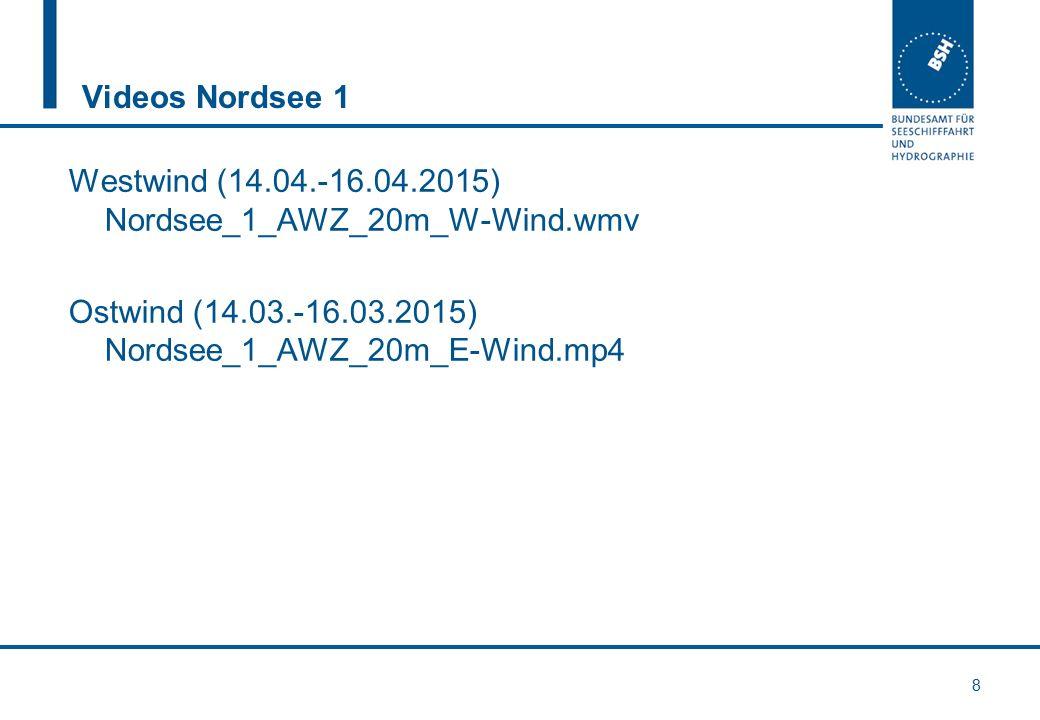 Videos Nordsee 1 Westwind (14.04.-16.04.2015) Nordsee_1_AWZ_20m_W-Wind.wmv Ostwind (14.03.-16.03.2015) Nordsee_1_AWZ_20m_E-Wind.mp4 8