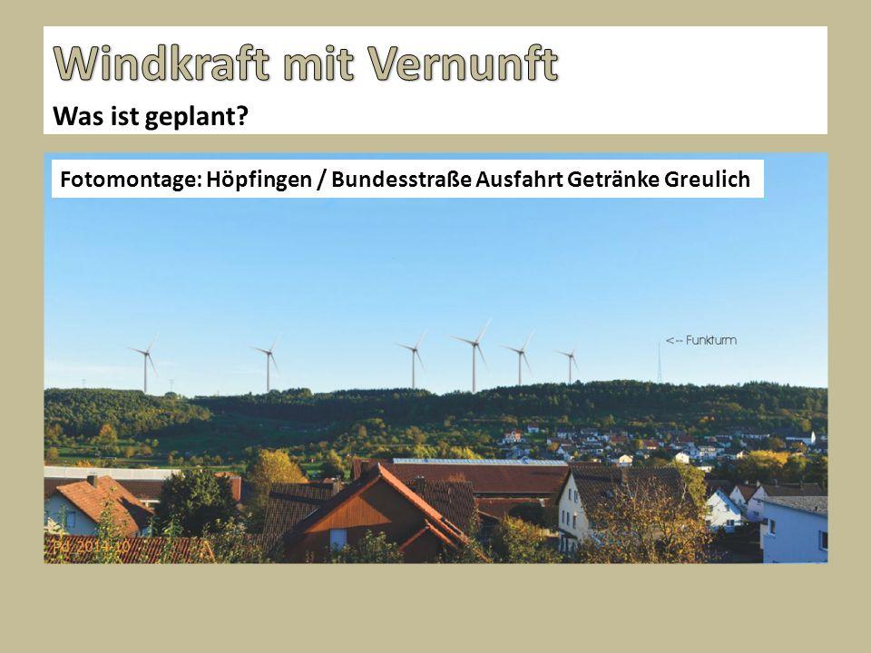 Was ist geplant? Fotomontage: Höpfingen / Bundesstraße Ausfahrt Getränke Greulich
