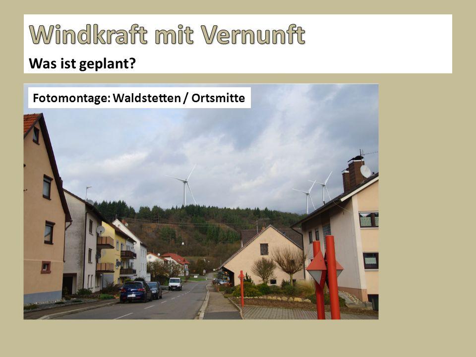 Was ist geplant Fotomontage: Waldstetten / Ortsmitte
