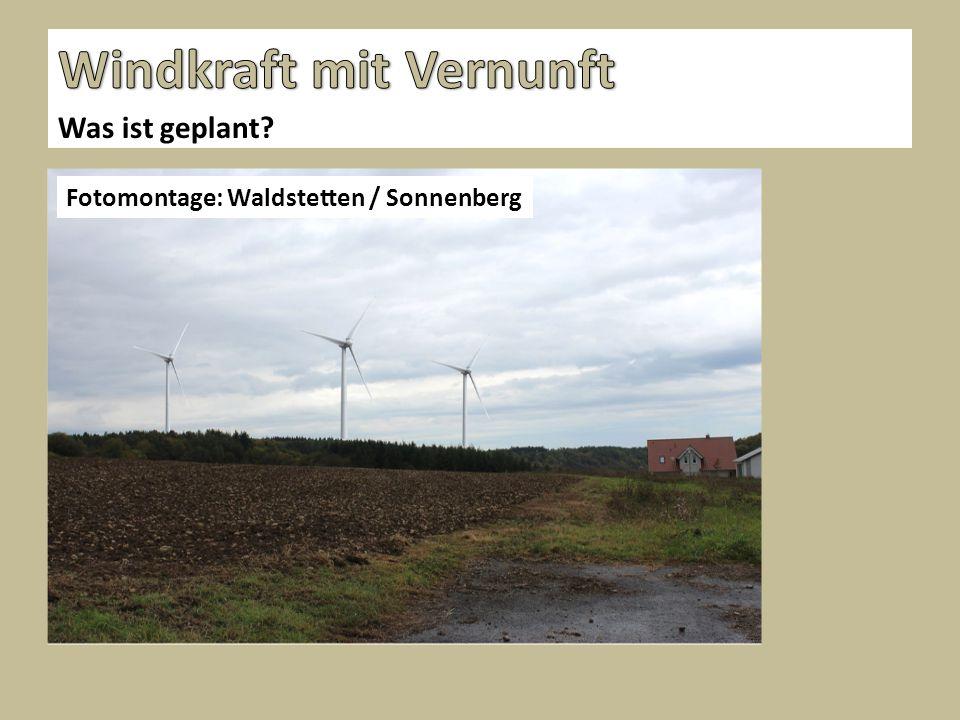 Was ist geplant Fotomontage: Waldstetten / Sonnenberg
