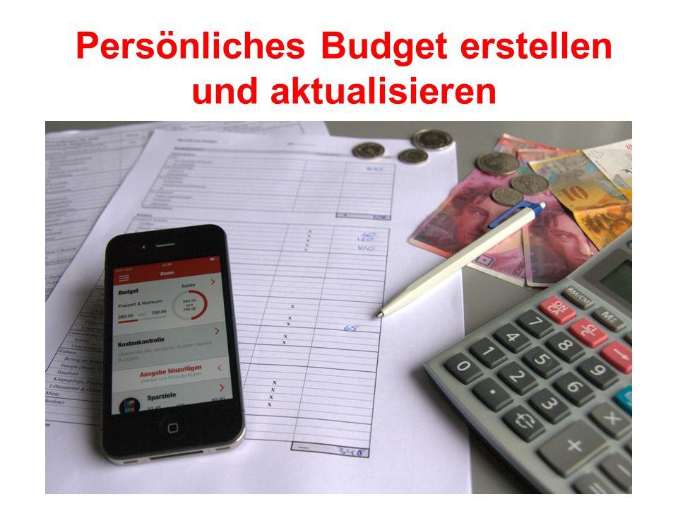 Persönliches Budget erstellen und aktualisieren