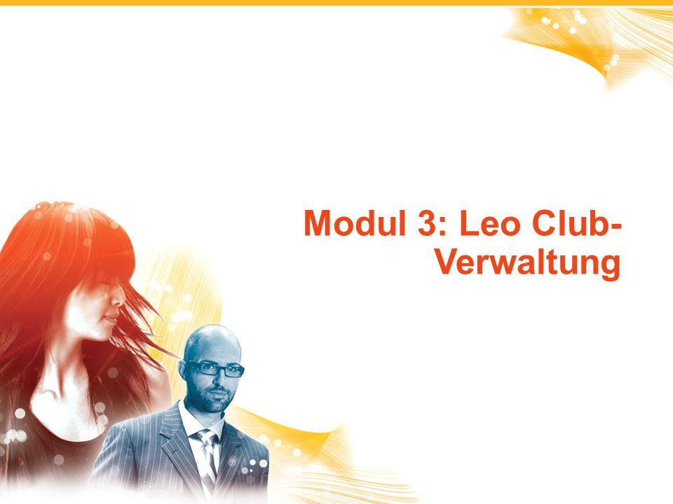 1 Modul 3: Leo Club- Verwaltung