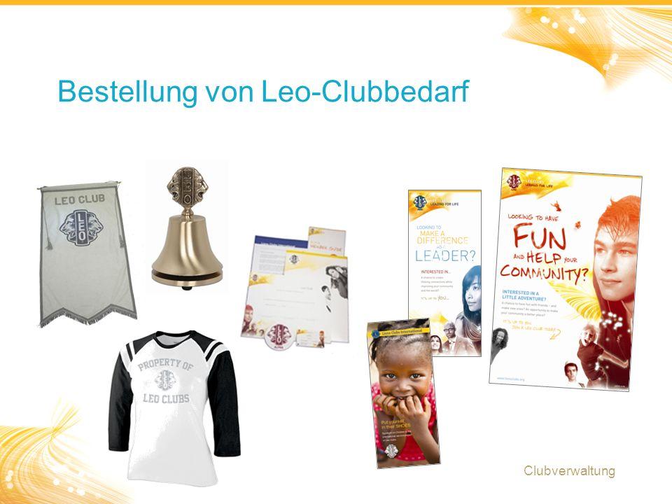 18 Bestellung von Leo-Clubbedarf Clubverwaltung