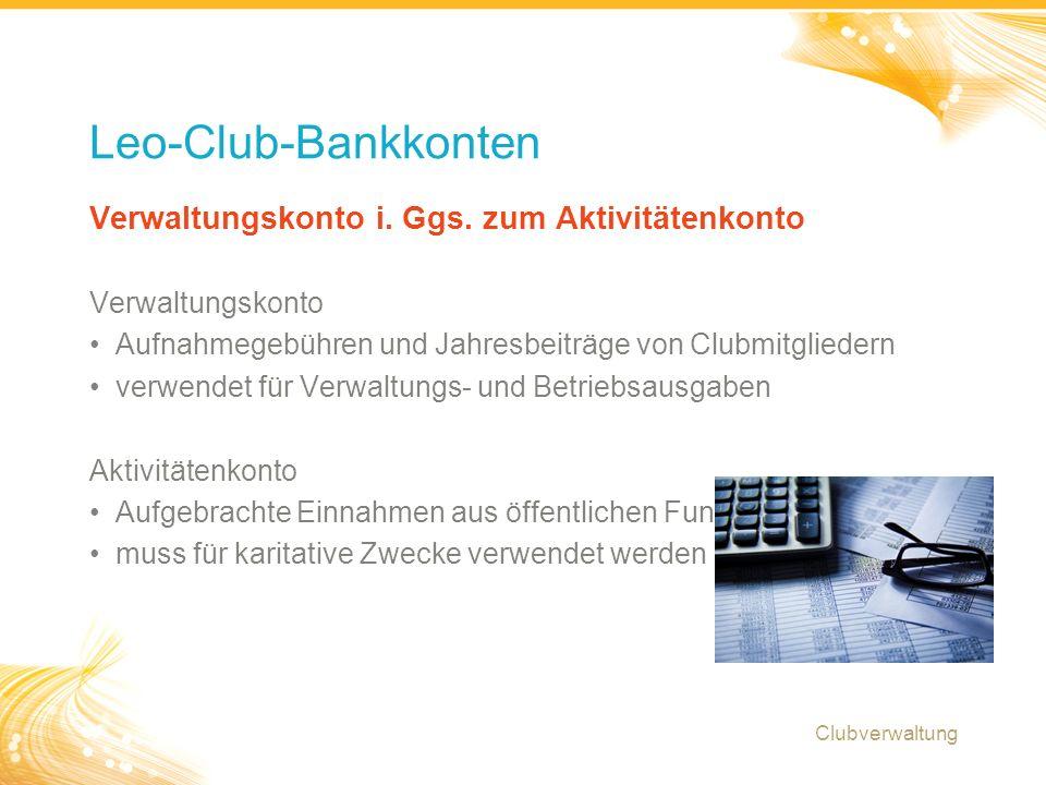 7 Tabelle zur Verwendung von Geldern Clubverwaltung Wie Gelder gesammelt werden Nutzung für öffentliche Projekte.