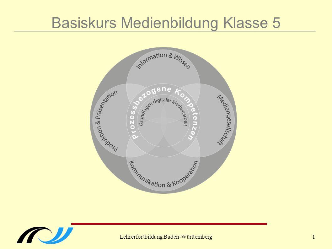 """Lehrerfortbildung Baden-Württemberg2 Historie Grundgedanke: Erweiterung/Ergänzung des """"Leitprinzips Medienbildung in Klasse 5."""