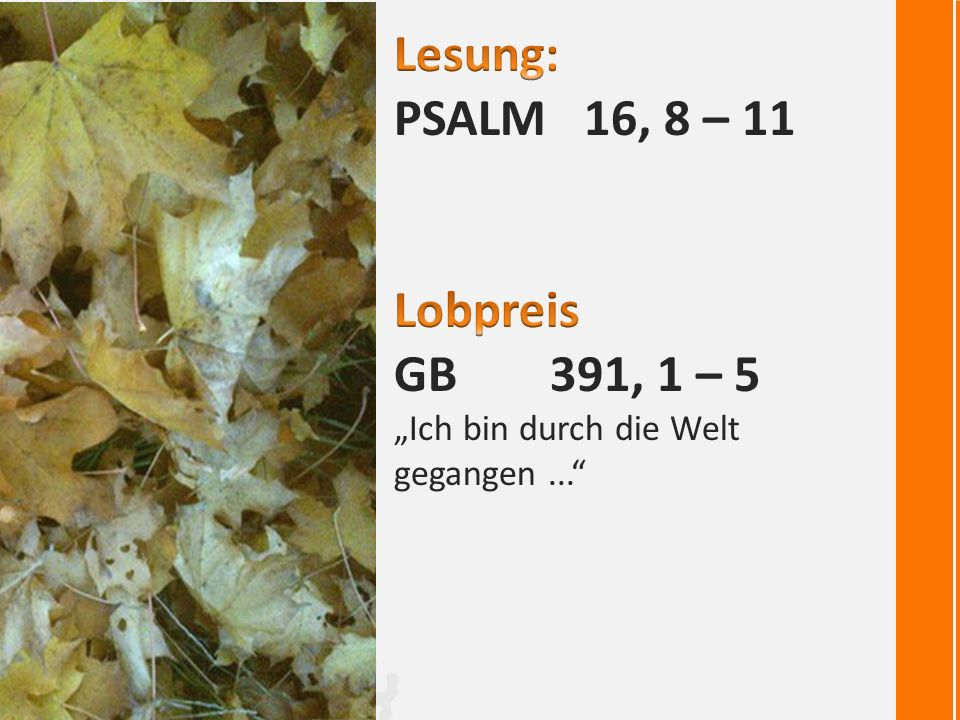 "Lied: GB 669: ""Gloria sei Dir gesungen …"