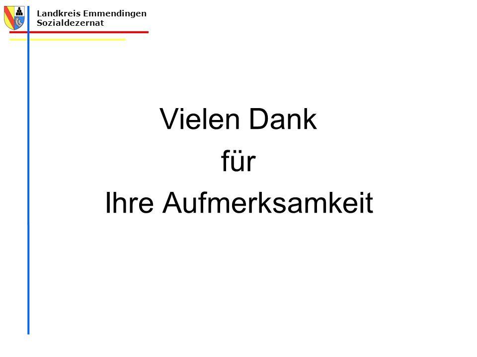 Landkreis Emmendingen Sozialdezernat Vielen Dank für Ihre Aufmerksamkeit