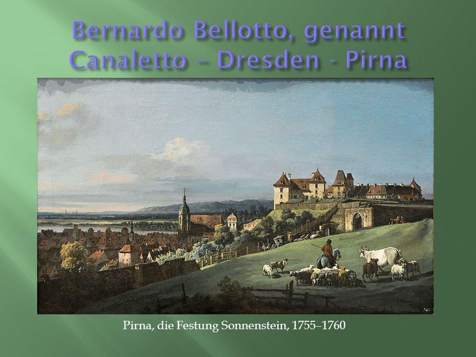 Pirna, die Festung Sonnenstein, 1755–1760