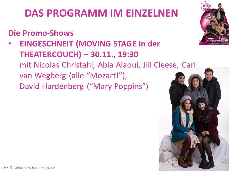 DAS PROGRAMM IM EINZELNEN Die Promo-Shows EINGESCHNEIT (MOVING STAGE in der THEATERCOUCH) – 30.11., 19:30 mit Nicolas Christahl, Abla Alaoui, Jill Cle