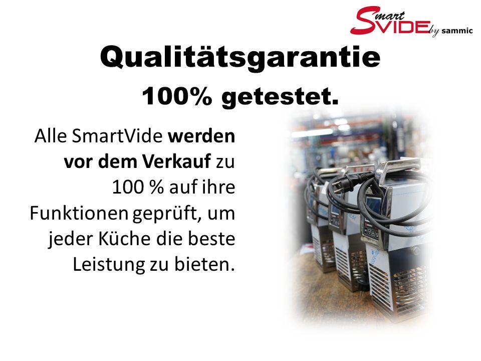 Qualitätsgarantie 100% getestet.