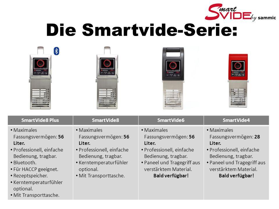 Die Smartvide-Serie: SmartVide8 PlusSmartVide8SmartVide6SmartVide4 Maximales Fassungsvermögen: 56 Liter.