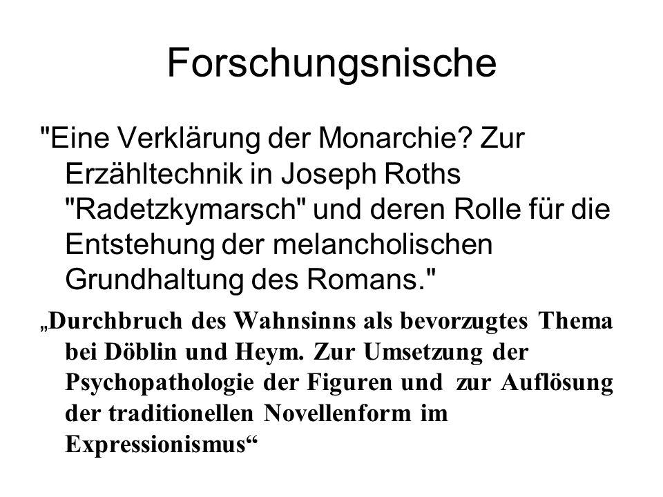 Forschungsnische Eine Verklärung der Monarchie.