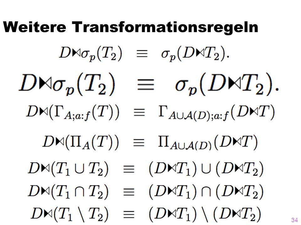 Weitere Transformationsregeln 34