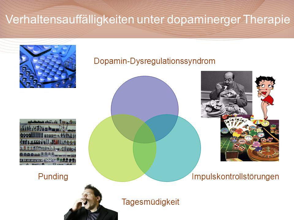 Dopamin-Dysregulationssyndrom ImpulskontrollstörungenPunding Verhaltensauffälligkeiten unter dopaminerger Therapie Tagesmüdigkeit