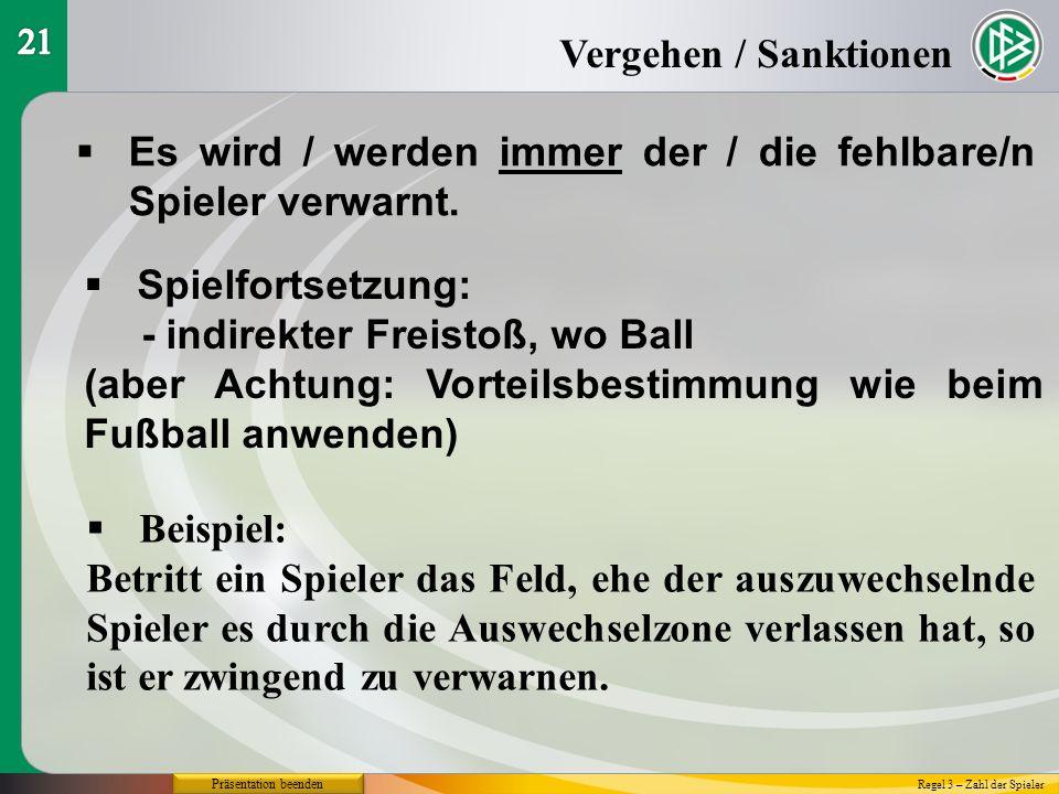 Futsal-Regeln 2015 / 2016 Regel 12 Fouls und unsportliches Betragen Die Ausbildung zum Futsal-Schiedsrichter Präsentation beenden Bernd Domurat - DFB-Kompetenzteam