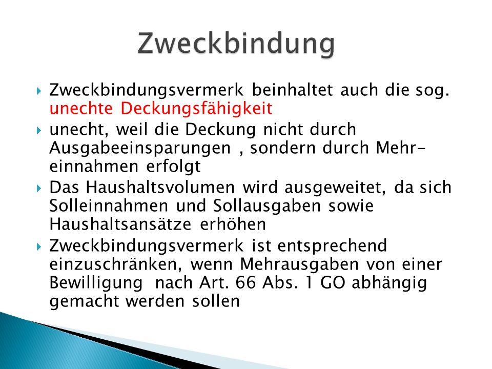Beispiel zu Art 68 Abs.2 Nr. 2 GO: Im Haushaltsplan der Gemeinde (5000 Einwohner) sind u.a.