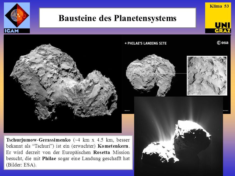 Tschurjumow-Gerassimenko (~4 km x 4.5 km, besser bekannt als Tschuri ) ist ein (erwachter) Kometenkern.