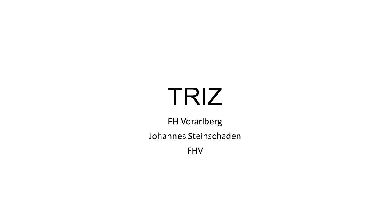 TRIZ FH Vorarlberg Johannes Steinschaden FHV