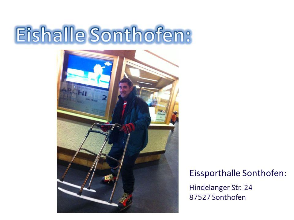 Eissporthalle Sonthofen: Hindelanger Str. 24 87527 Sonthofen