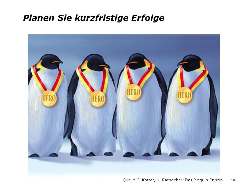 Planen Sie kurzfristige Erfolge Quelle: J. Kotter, H. Rathgeber: Das Pinguin-Prinzip 10
