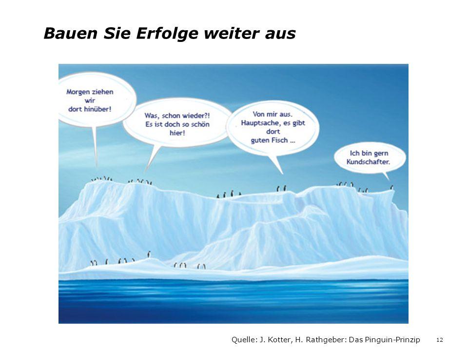 Bauen Sie Erfolge weiter aus Quelle: J. Kotter, H. Rathgeber: Das Pinguin-Prinzip 12