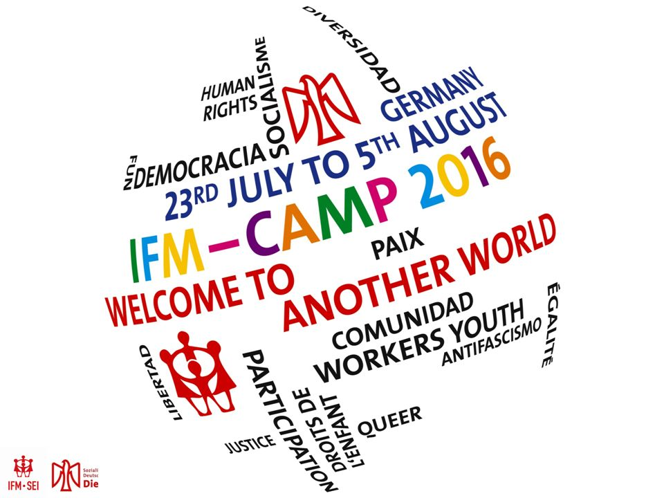 SAVE THE DATE: 23.07.-05.08.2016 WER.