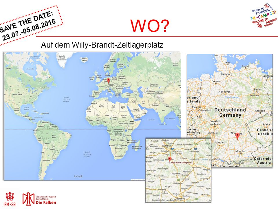 SAVE THE DATE: 23.07.-05.08.2016 WO? Auf dem Willy-Brandt-Zeltlagerplatz
