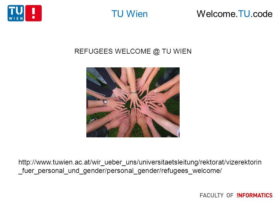 Fakultät für Informatik: W2C Welcome.TU.code http://www.informatik.tuwien.ac.at/welcomeTUcode