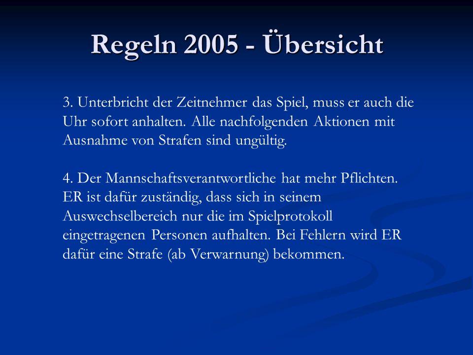 Regeln 2005 - Übersicht 3.