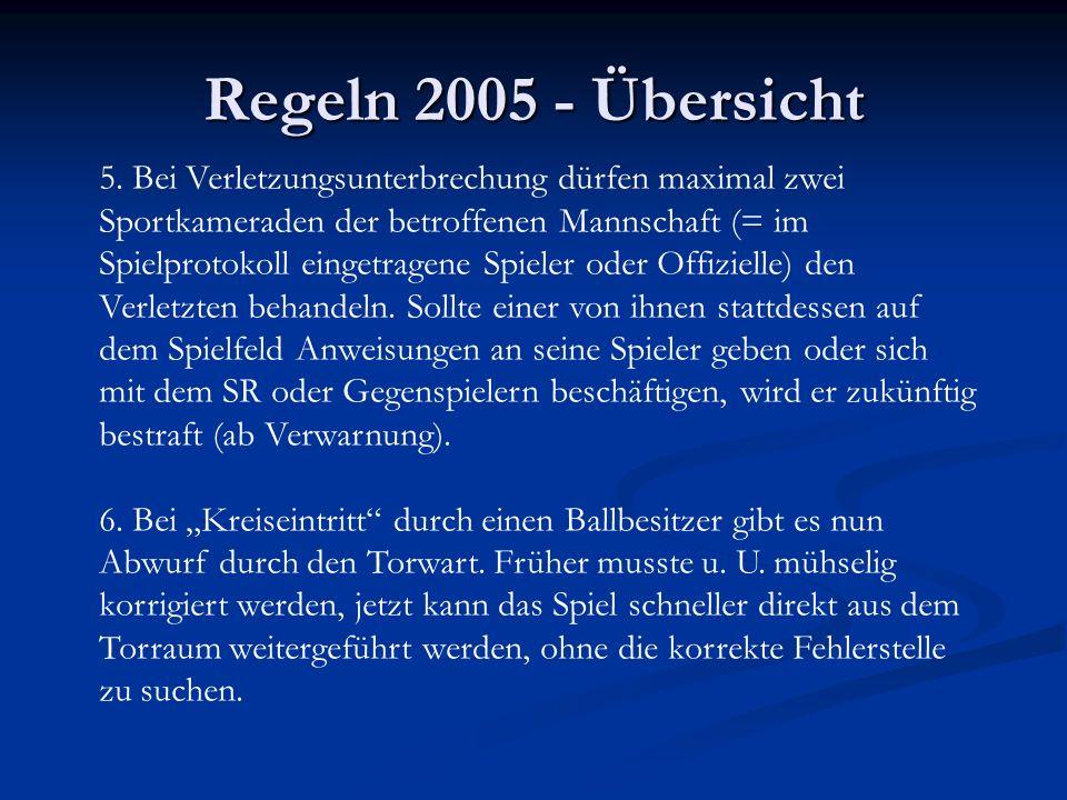Regeln 2005 - Übersicht 5.