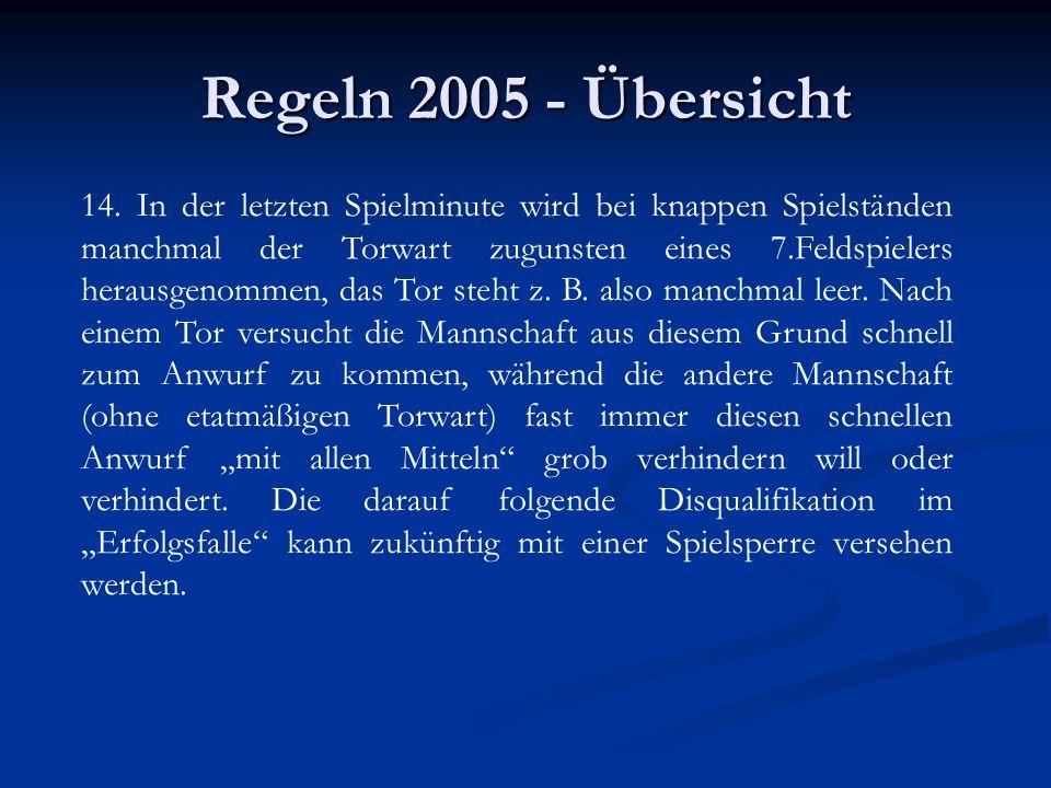 Regeln 2005 - Übersicht 14.