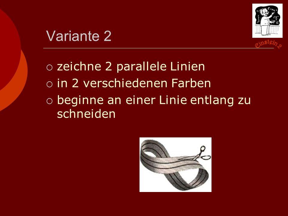 Variante 2  zeichne 2 parallele Linien  in 2 verschiedenen Farben  beginne an einer Linie entlang zu schneiden