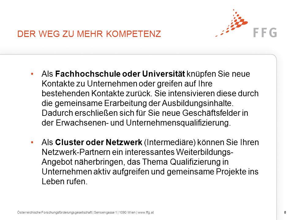 19 FACT SHEETS GEFÖRDERTER PROJEKTE Österreichische Forschungsförderungsgesellschaft | Sensengasse 1 | 1090 Wien | www.ffg.at © Universität für Bodenkultur Wien Vgl.