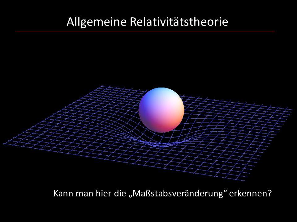 """Allgemeine Relativitätstheorie Kann man hier die """"Maßstabsveränderung"""" erkennen?"""