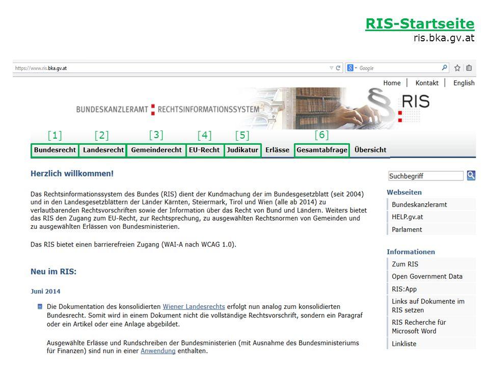 Beispiel: Kundmachungsorgan der Stammfassung des Tabakgesetzes [1] Bundesrecht Bundesrecht StF = Stammfassung