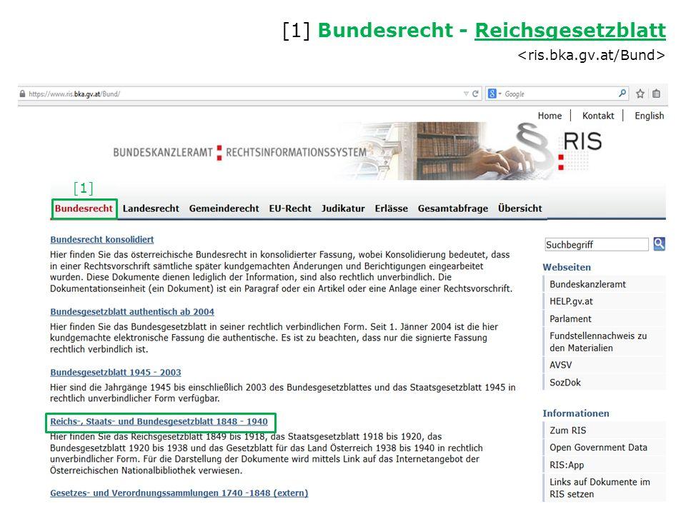 [1] [1] Bundesrecht - Reichsgesetzblatt Reichsgesetzblatt