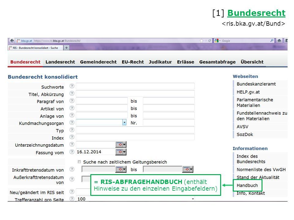 Zugang zu EUR-Lex (eur-lex.europa.eu) über Verlinkung im RIS [4] EU-Recht EU-Recht [4]