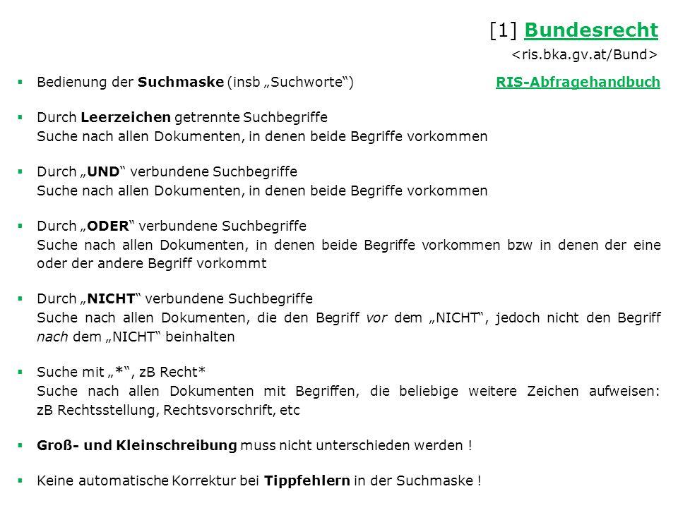 Links – Datenbanken www.ris.bka.gv.atwww.ris.bka.gv.at (Rechtsinformationssystem) www.parlament.gv.atwww.parlament.gv.at (Parlament der Republik Österreich ) www.vfgh.gv.atwww.vfgh.gv.at (Verfassungsgerichtshof) alex.onb.ac.at/vgh.htmalex.onb.ac.at/vgh.htm (Sammlung der Erkenntnisse und Beschlüsse des VfGH 1921 bis 1979) www.vwgh.gv.atwww.vwgh.gv.at (Verwaltungsgerichtshof) alex.onb.ac.at/cgi-content/alex?apm=0&aid=vgralex.onb.ac.at/cgi-content/alex?apm=0&aid=vgr (Sammlung der Erkenntnisse und Beschlüsse des VwGH 1876 bis 1934) www.ogh.gv.atwww.ogh.gv.at (Oberster Gerichtshof und Generalprokuratur) eur-lex.europa.eueur-lex.europa.eu (Unionsrecht) curia.europa.eucuria.europa.eu (Gerichtshof der Europäischen Union) www.coe.intwww.coe.int (Europarat [Council of Europe], in Englisch) www.echr.coe.intwww.echr.coe.int (Europäischer Gerichtshof für Menschenrechte − EGMR [European Court of Human Rights], in Englisch) www.egmr.orgwww.egmr.org (einzelne Urteile und Entscheidungen des Europäischen Gerichtshofs für Menschenrechte in Deutsch)