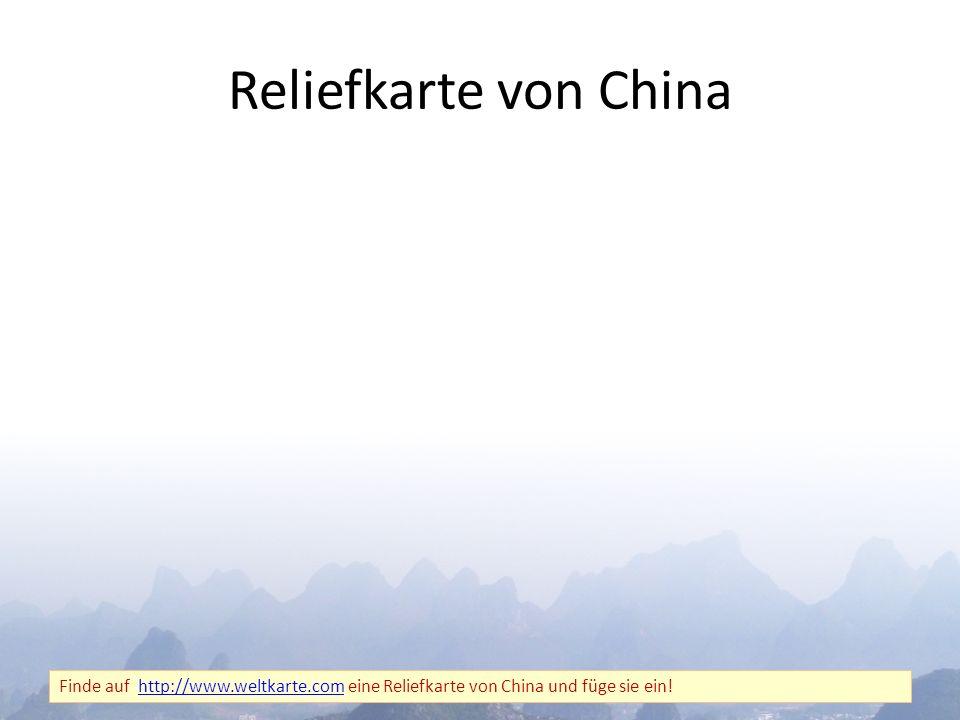 Reliefkarte von China Finde auf http://www.weltkarte.com eine Reliefkarte von China und füge sie ein!http://www.weltkarte.com