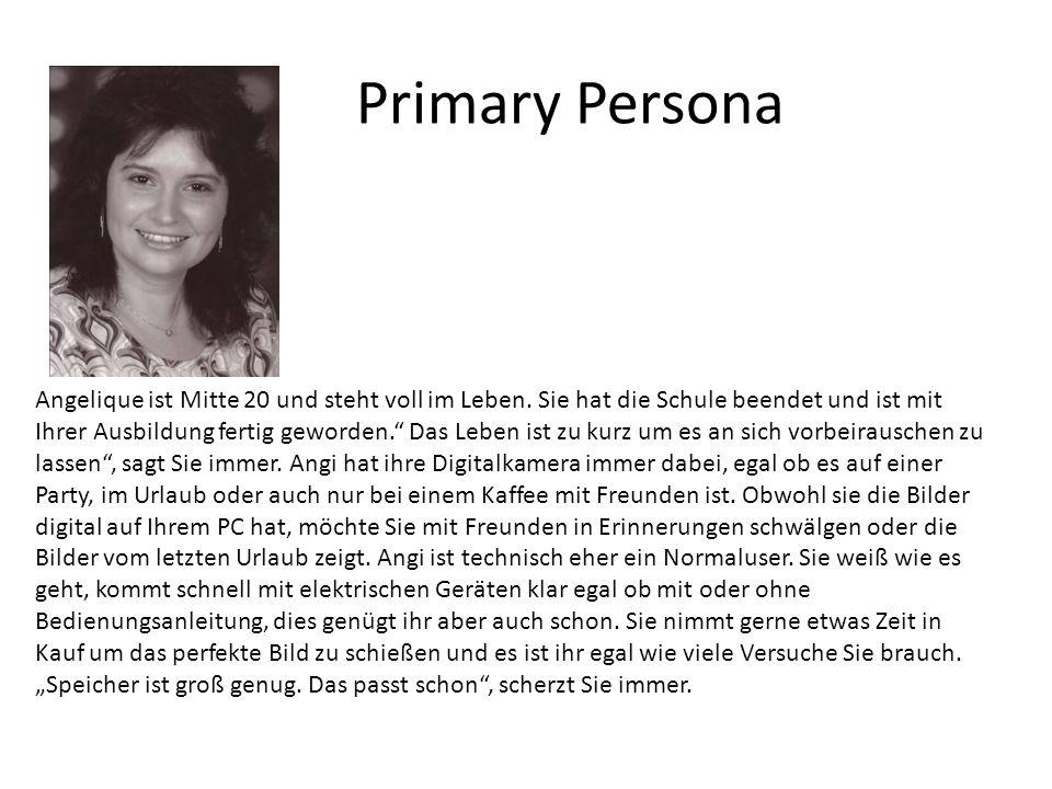 Primary Persona Angelique ist Mitte 20 und steht voll im Leben.