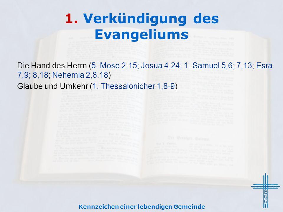 1.Verkündigung des Evangeliums Die Hand des Herrn (5.